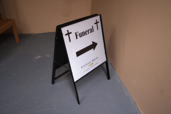 two side aluminum sign
