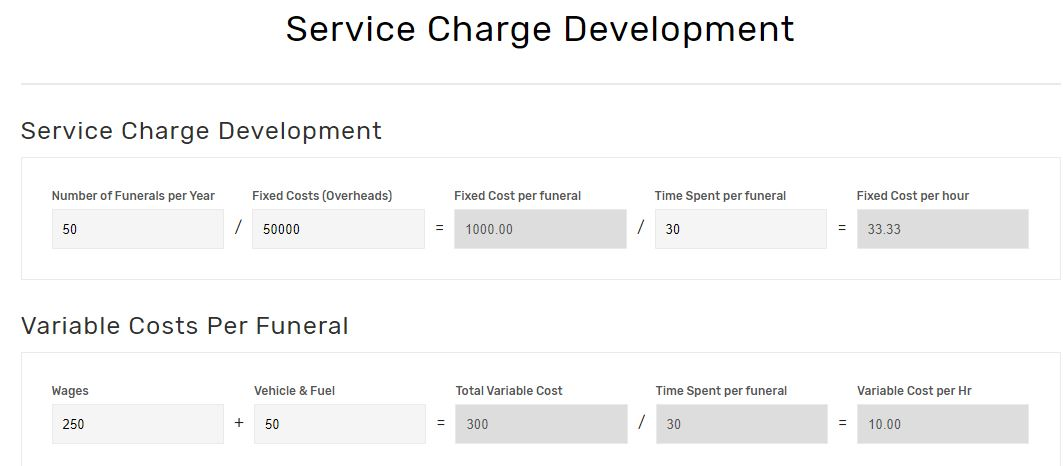 fds service charge development