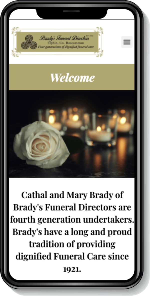 brady funeral mobile